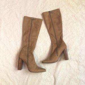 VTG Y2K Candies faux suede block heel boots